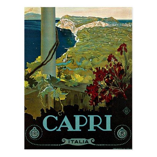 Vintage Travel, Isle of Capri, Italy Italia Coast Post Cards