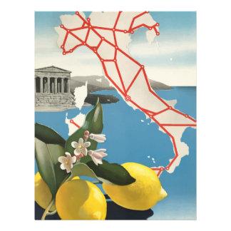 Vintage Travel Italy Letterhead
