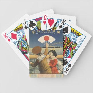 Vintage Travel Japan Bicycle Playing Cards