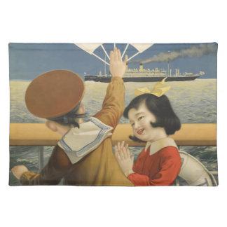 Vintage Travel Japan Placemat