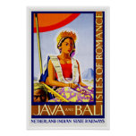 Vintage Travel Java and Bali Poster