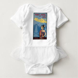 Vintage Travel Java Indonesia Baby Bodysuit