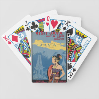 Vintage Travel Java Indonesia Bicycle Playing Cards