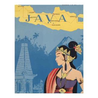 Vintage Travel Java Indonesia Letterhead