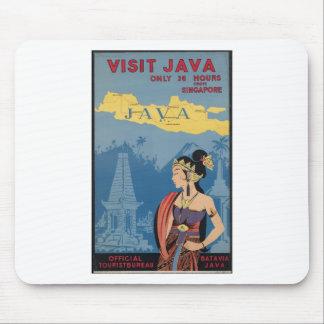 Vintage Travel Java Indonesia Mouse Pad