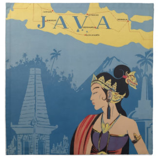 Vintage Travel Java Indonesia Napkin