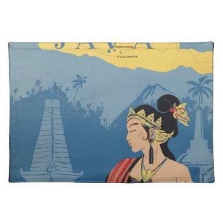 Vintage Travel Java Indonesia Placemat