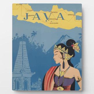 Vintage Travel Java Indonesia Plaque