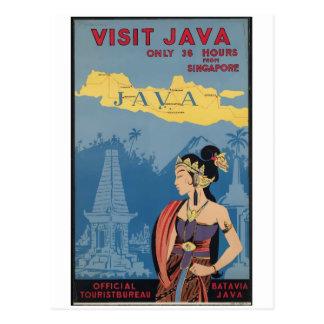 Vintage Travel Java Indonesia Postcard