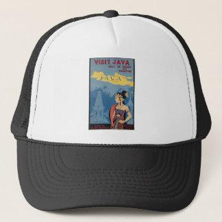 Vintage Travel Java Indonesia Trucker Hat