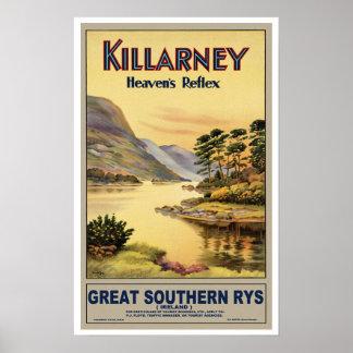 Vintage Travel Killarney Ireland Poster