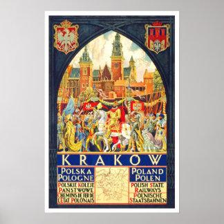Vintage travel,Krakow Posters