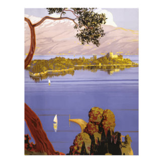 Vintage Travel Lake Garda Italy 1924 Letterhead