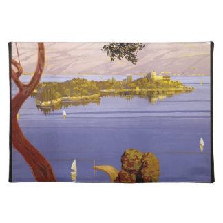 Vintage Travel Lake Garda Italy 1924 Placemat