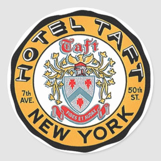 Vintage Travel Luggage Stickers NYC NY Hotel Taft