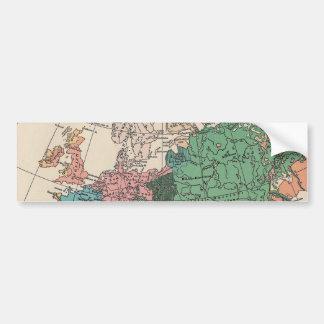 Vintage Travel Map Bumper Sticker
