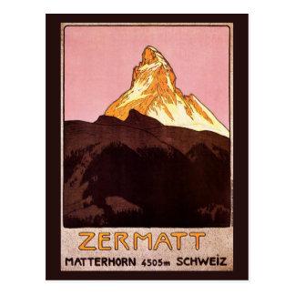 Vintage Travel, Matterhorn Mountain, Switzerland Postcard