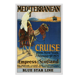 Vintage travel,Mediteranian Cruise. Posters