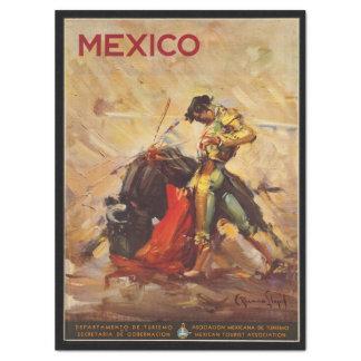 Vintage Travel Mexico Bull Fighting Matador Tissue Paper