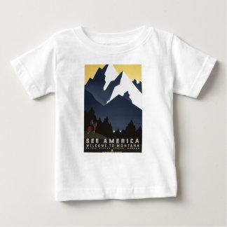 Vintage Travel Montana America USA Baby T-Shirt