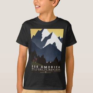 Vintage Travel Montana America USA T-Shirt