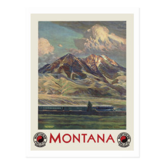 Vintage Travel Montana by Train Postcard