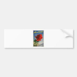 Vintage Travel Montreux Switzerland Bumper Sticker
