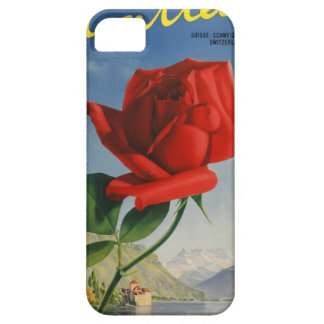 Vintage Travel Montreux Switzerland iPhone 5 Covers