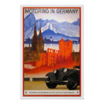 Vintage travel,Motoring in Germany Poster
