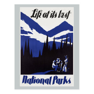 Vintage Travel National Park Postcard