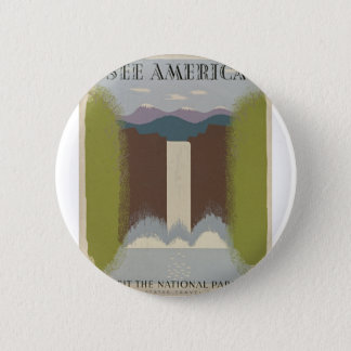 Vintage Travel National Parks 2 Inch Round Button