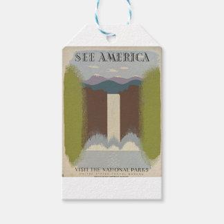 Vintage Travel National Parks Gift Tags
