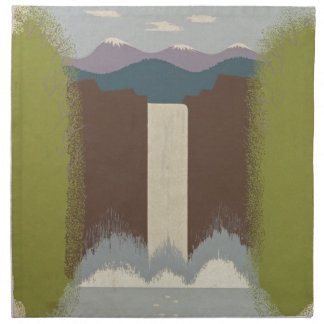 Vintage Travel National Parks Napkin
