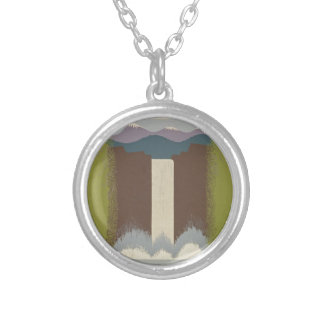 Vintage Travel National Parks Silver Plated Necklace