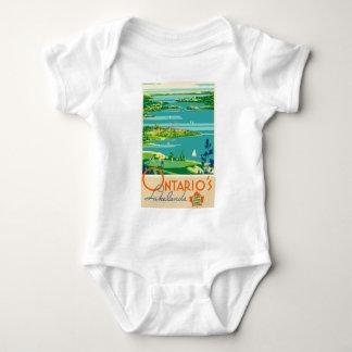 Vintage Travel Ontario Canada Baby Bodysuit