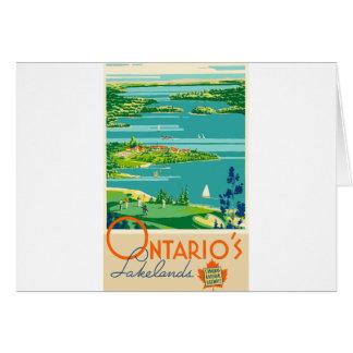 Vintage Travel Ontario Canada Card