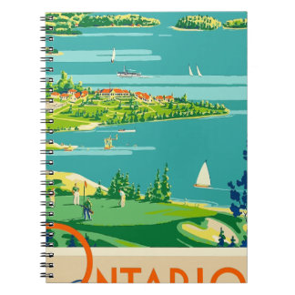 Vintage Travel Ontario Canada Notebooks