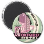 Vintage Travel, Oxford Hotel, Montevideo, Uruguay Fridge Magnets