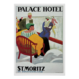 Vintage Travel,Palace Hotel Poster