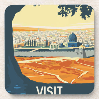 Vintage Travel Palestine Coaster