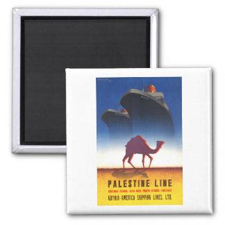 Vintage Travel Palestine Line Ship Magnet