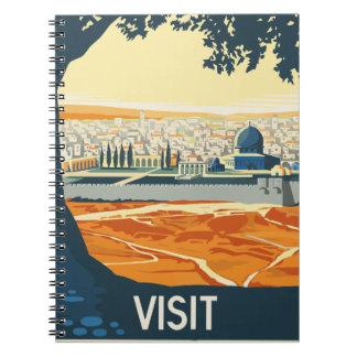 Vintage Travel Palestine Notebook