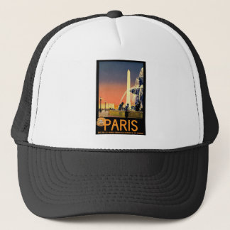 Vintage Travel Paris France Trucker Hat