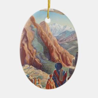 Vintage Travel Peru Ceramic Ornament