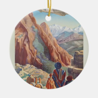 Vintage Travel Peru Ceramic Ornament