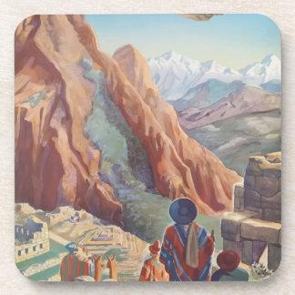 Vintage Travel Peru Coaster
