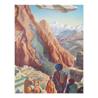 Vintage Travel Peru Letterhead