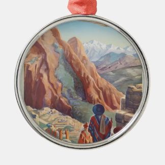 Vintage Travel Peru Metal Ornament