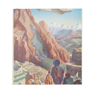 Vintage Travel Peru Notepad