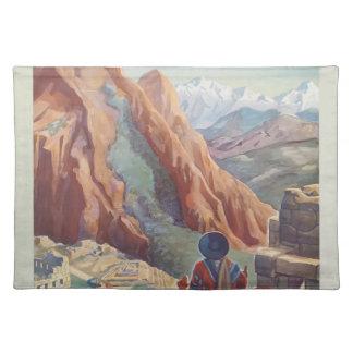 Vintage Travel Peru Placemat